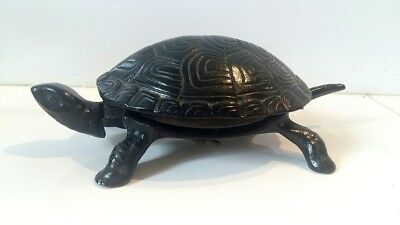 Ancienne Sonnette Clochette Cloche De Table Model Tortue Fonte De Fer