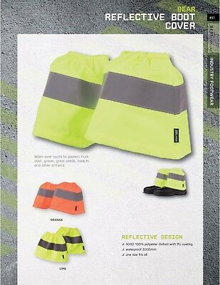 JB's wear WaterProof Reflective Boot Cover Protector Protect from Dust Gravel