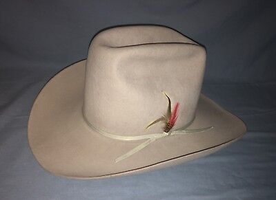 Stetson RESISTOL From SHEPLERS 100 % Wool Silver Grey Hat New Old Stock