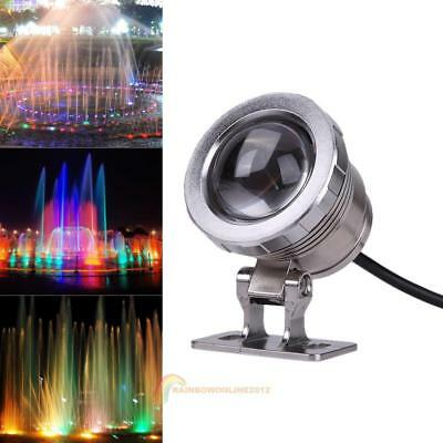 Waterproof 10W 12V RGB 9 LED Fountain Pool Pond Spotlight Underwater Light Lamp