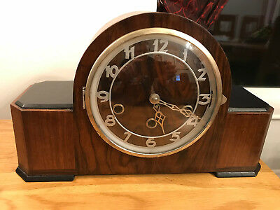 Art Deco Mantel Clock, with Westminster chime - restored and recently serviced