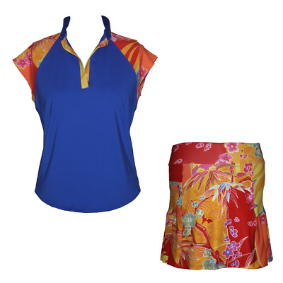 BNWT, Ladies Golf Outfit - Blue and Sunshine, FREE SHIPPING!