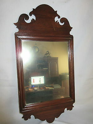 Georgian Style Fret Carved Chippendale Mirror 10 by 20 Inches