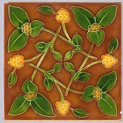 Pilkington's Tile & Pottery Co. - c.1903 - Art Nouveau - Antique Majolica Tile