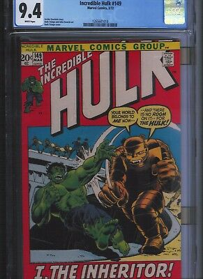 Incredible Hulk # 149 CGC 9.4  White Pages. UnRestored.