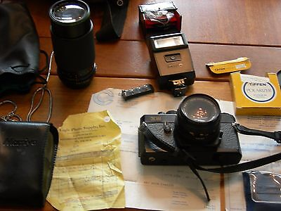 Mamiya  Camera  Model  Ze   From 1981 With 50Mm Zoom Lenses.+ Many Accessories