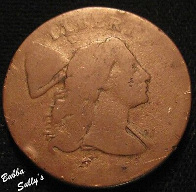 1794 Liberty Cap Large Cent <> Reverse Completely Worn