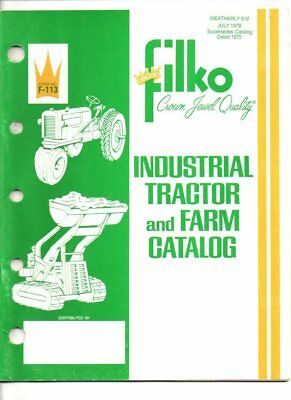 Filko industrial tractor and farm catalog 1978