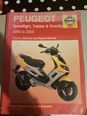peugeot speedfight trekker&vivacity haynes manual 1996-2005