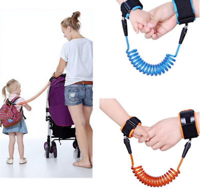 Baby Kids Anti-Lost Spring Wristband safety Harness Rope Belt Elastic Wire