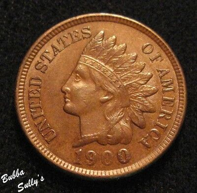 1900 Indian Head Cent <> ABOUT UNCIRCULATED