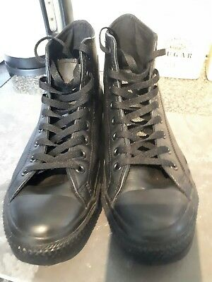 Mens leather Converse high tops (size 8.5)