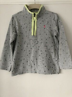 JOULES girls zip-neck sweatshirt. Age 11/12 but small size. Excellent condition.