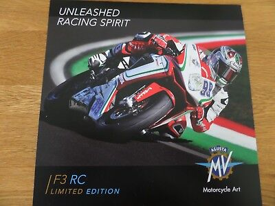 MV Agusta F3 RC Limited Edition Motorcycle Sales Brochure - 2018