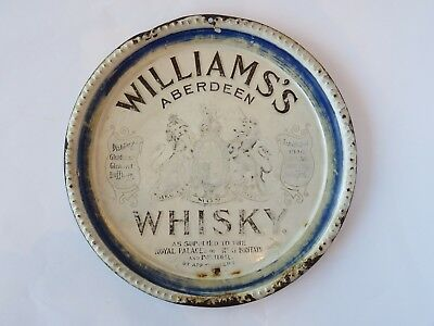 Williams's Aberdeen Whisky - Porcelain Advertising Tray - 1890-1910