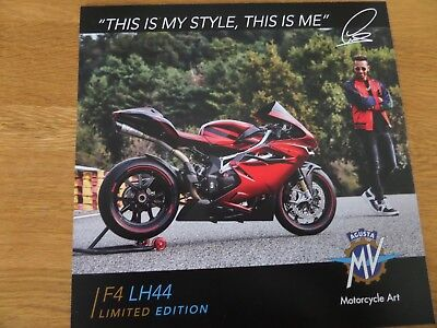 MV Agusta F4 LH44 Limited Addition Motorcycle Sales Brochure - 2018