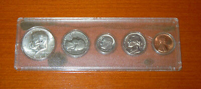 Lot/Konvolut USA United States 1969 Half+Quarter Dollar+Dime+5 Cent+1 Cent, TOP