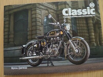 Royal Enfield Classic 500 Motorcycle Sales Brochure 2018