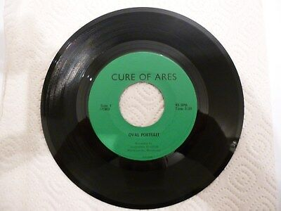 """Cure Of Ares - Oval Portrait b/w Stepping Stone (7"""", Audiotek)"""