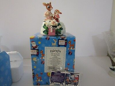 """Rudolph The Red Nosed Reindeer Enesco """"rudolph With Your Nose So Bright"""" Mib"""
