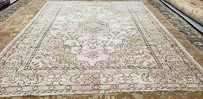 """Beautiful Antique Cr1930-1939s Muted Dyes 6'4""""×8' Wool Pile  Oushak  Rug"""
