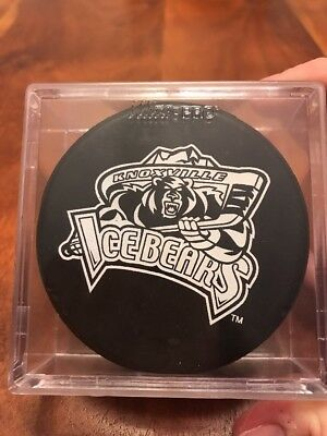 ACHL Knoxville Ice Bears Team Logo Official Hockey Puck In Case (KC)