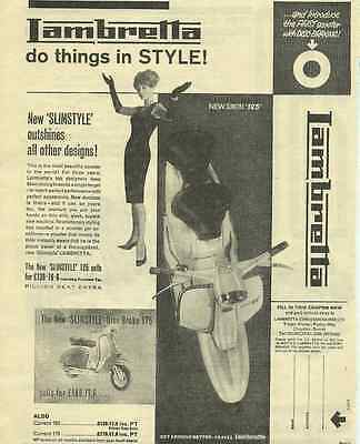 One Only! Orig. Lambretta Mod 'style' Scooter Sales Poster/ad 125 150 175