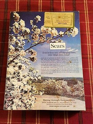 Vintage Sears Spring Summer 1971 Catalog / Book Sears Roebuck