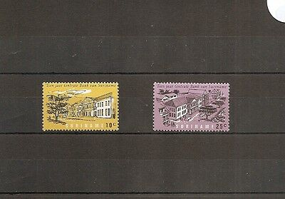 Suriname 1967 SG611-2 2v NHM 10th Anniversary of Suriname Central Bank