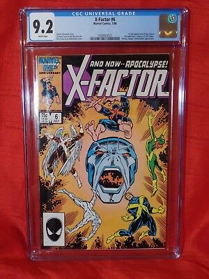 X-factor 6 CGC 9.2 White pages — New Case — No reserve
