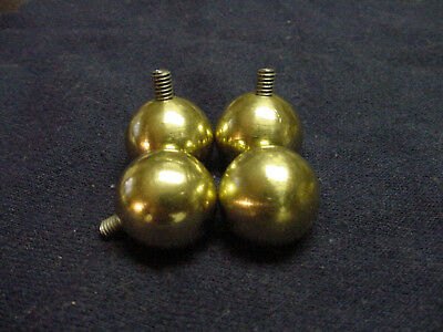 "Brass Ball Feet for Chelsea Clocks 5/8"" dia. with 8-32 threads"