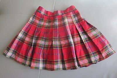 Tcp The Childrens Place Red Green Plaid Pleated Skirt Size 5 6 Euc Christmas