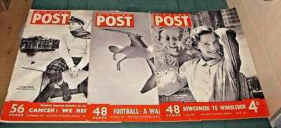 Picture Post Magazine X3 Issues 1950 - May 27Th - July 1St - Aug 26Th - Sept 30T