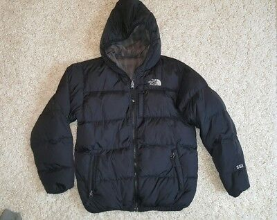 Boys The North Face 550 Down filled reversable jacket coat L nuptse