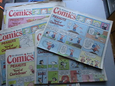 Sunday Newspaper Comics FIFTY Pages Philadelphia Inquirer From 1984 & 1986