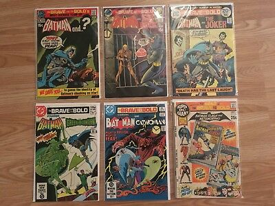 DC Comics Batman The Brave And The Bold Job Lot 95 96 111 174 197 & S-16