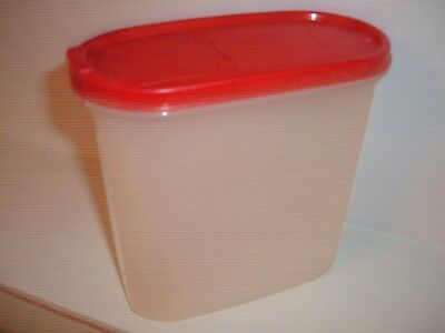 MODULAR MATE Tupperware Oval Storage Containers RED LID 1.7 LITRES