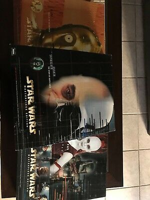 """Three New star wars masterpiece edition 12"""" doll and The book"""
