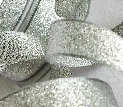 Metallic Glitter Ribbon  Silver Sparkly Lame Berisfords 3, 7, 15, 25, 40mm