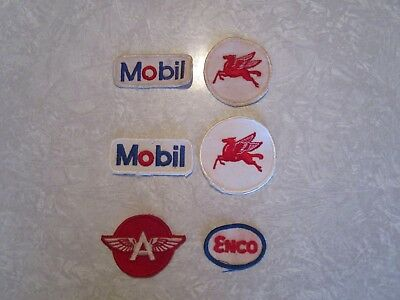 Vintage Uniform Patch Lot-Service Station Attendant Mobil Pegasus Flying A Enco