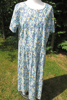 Laura Ashley vintage Dress  size 18  ex. conditon  blue with yellow flowers