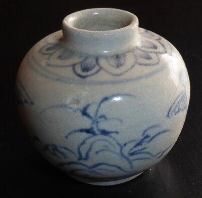 """Hoi An Hoard Authentic Small Vase 2 1/8"""" in Diameter and 2"""" Tall Birds"""