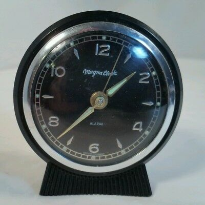 Vintage Magna Clock Magnetic Dash Clock 50s 60s Chevy Ford Hotrod W Germany VGUC