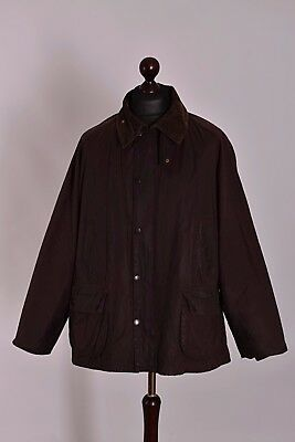 Men's Barbour Bedale Brown Jacket Size C48 / 122cm Genuine Casual Waxed