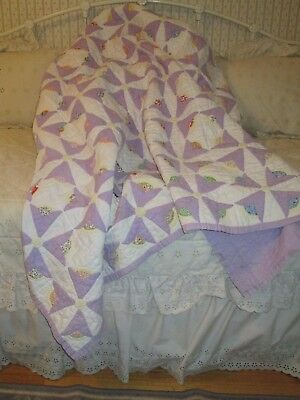 Vintage Hand Sewn, Hand Quilted Coverlet/quilt From The 1920S Or 1930S
