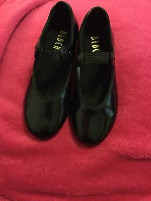 BLOCH GIRLS TAP SHOES SZ 13M (Y), Black Techno Tap, Leather Uppers, Rubber Soles