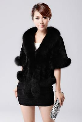 Black Fashion Women's Bridal Wedding Faux Fur Long Shawl Stole Wrap Shrug Scarf