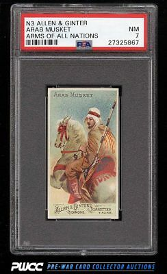 1887 N3 Allen & Ginter Arms Of All Nations Arab Musket PSA 7 NRMT (PWCC)