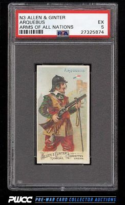 1887 N3 Allen & Ginter Arms Of All Nations Arquebus PSA 5 EX (PWCC)