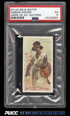 1887 N3 Allen & Ginter Arms Of All Nations Nubian Sword PSA 5 EX (PWCC)